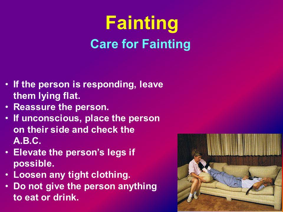 Fainting Care for Fainting