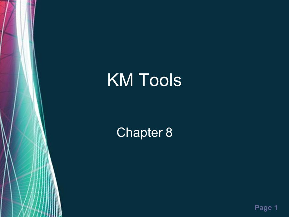 KM Tools Chapter 8