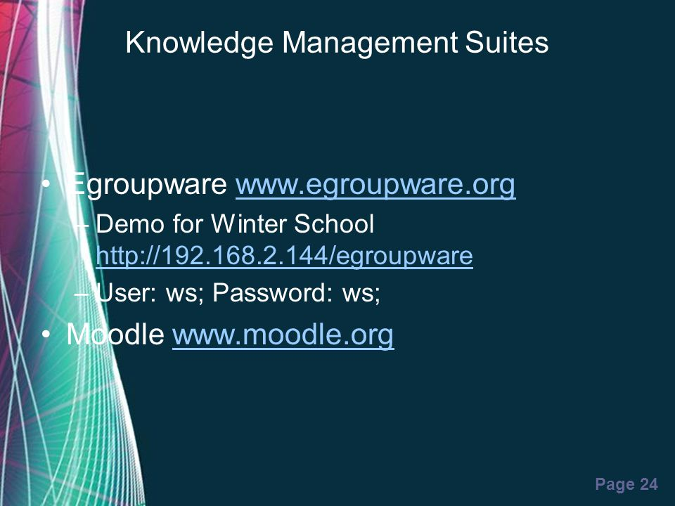 Knowledge Management Suites