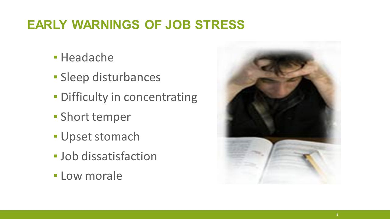 Early Warnings of Job Stress