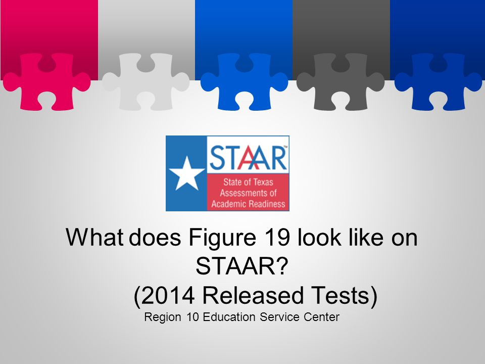 What does Figure 19 look like on STAAR (2014 Released Tests)