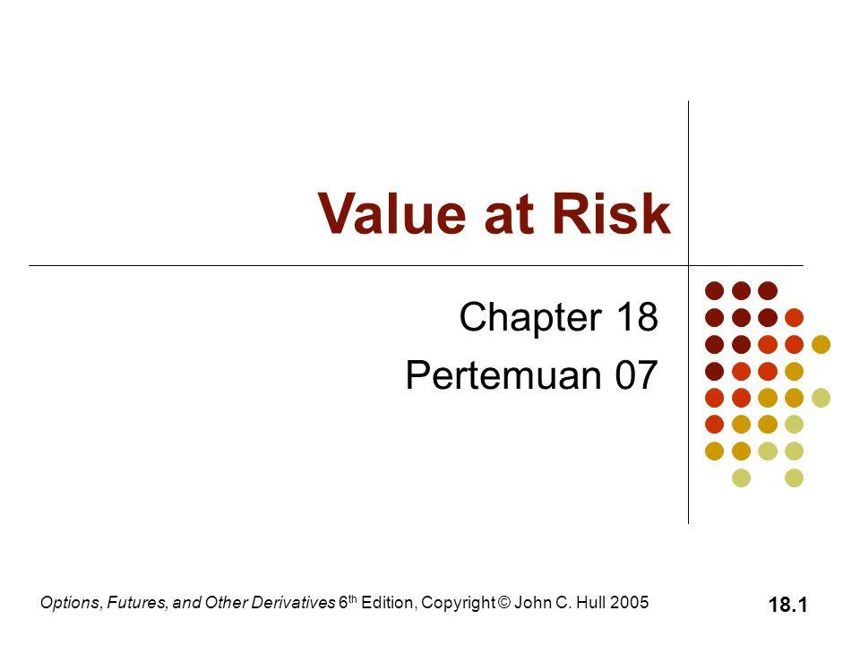 Value at Risk Chapter 18 Pertemuan 07