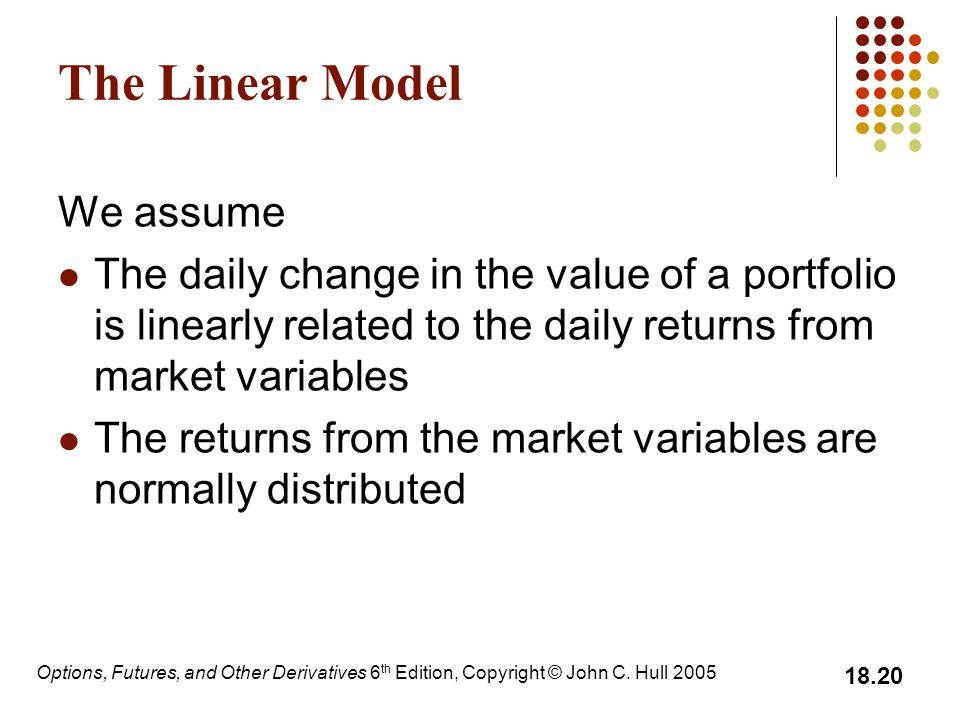 The Linear Model We assume