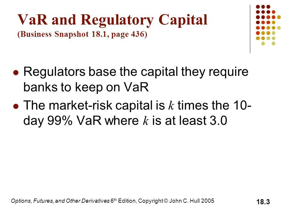 VaR and Regulatory Capital (Business Snapshot 18.1, page 436)
