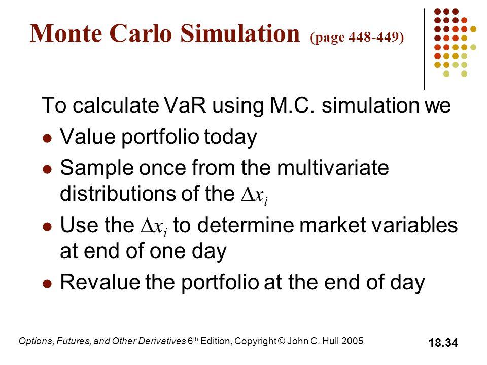 Monte Carlo Simulation (page 448-449)