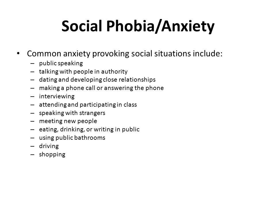 Social Phobia/Anxiety