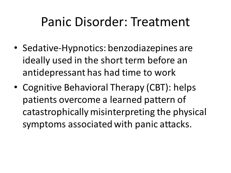 Panic Disorder: Treatment