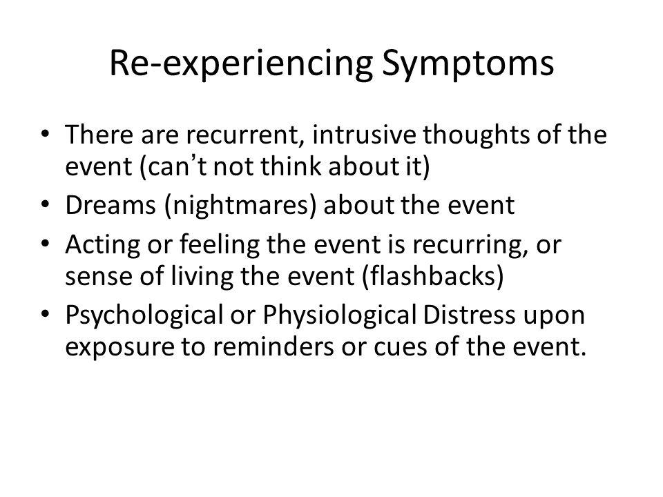 Re-experiencing Symptoms