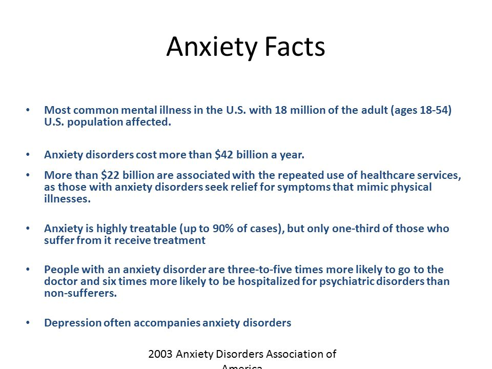 2003 Anxiety Disorders Association of America