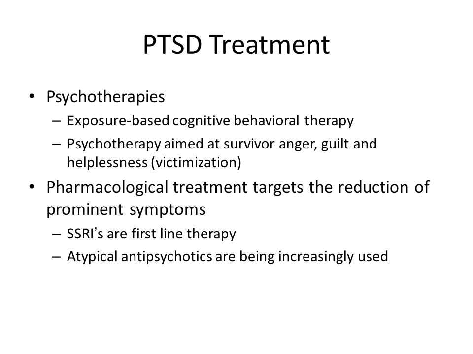 PTSD Treatment Psychotherapies