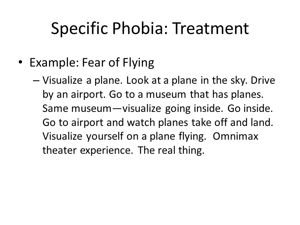 Specific Phobia: Treatment