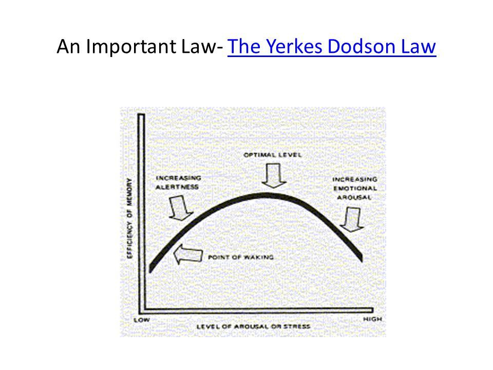An Important Law- The Yerkes Dodson Law