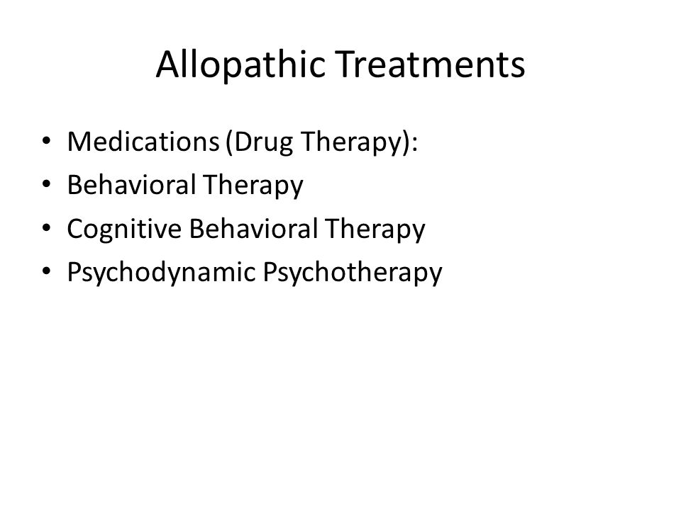 Allopathic Treatments