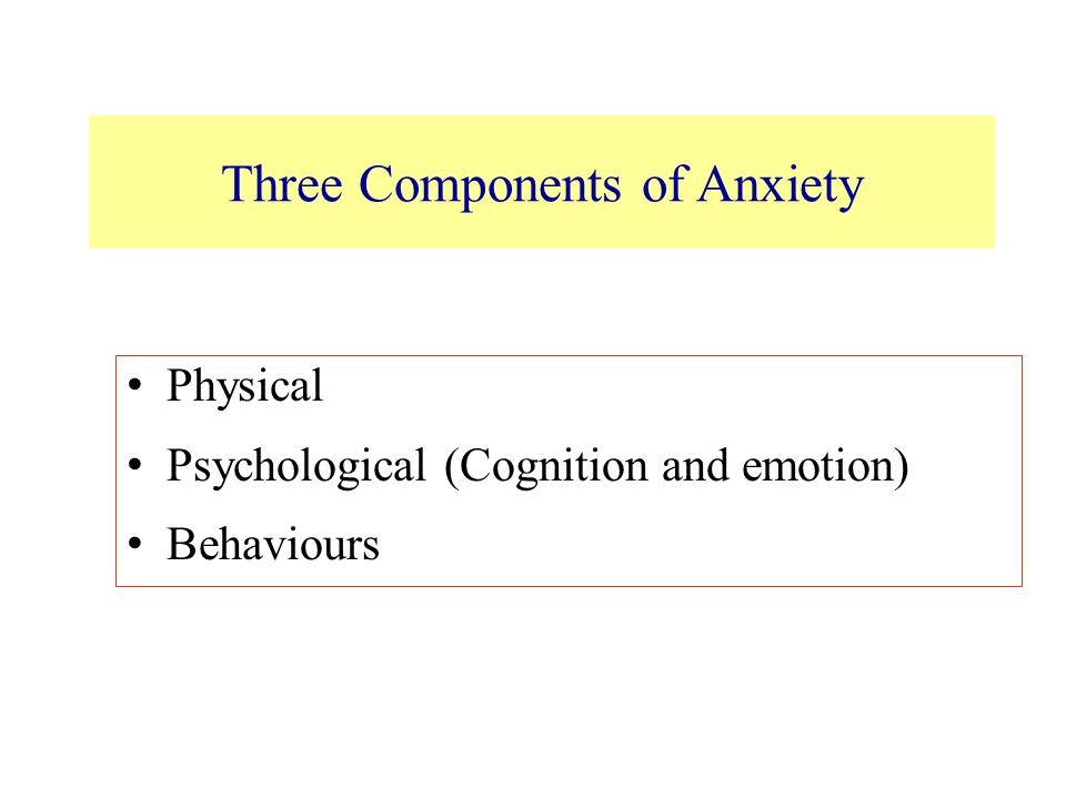 Three Components of Anxiety