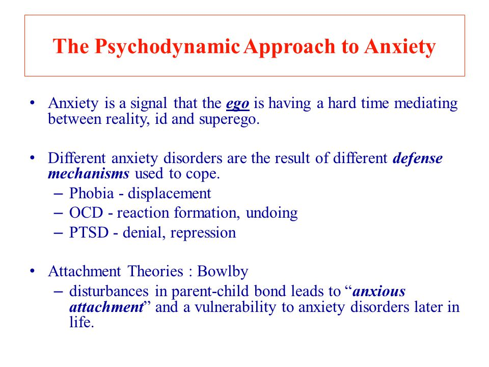 The Psychodynamic Approach to Anxiety