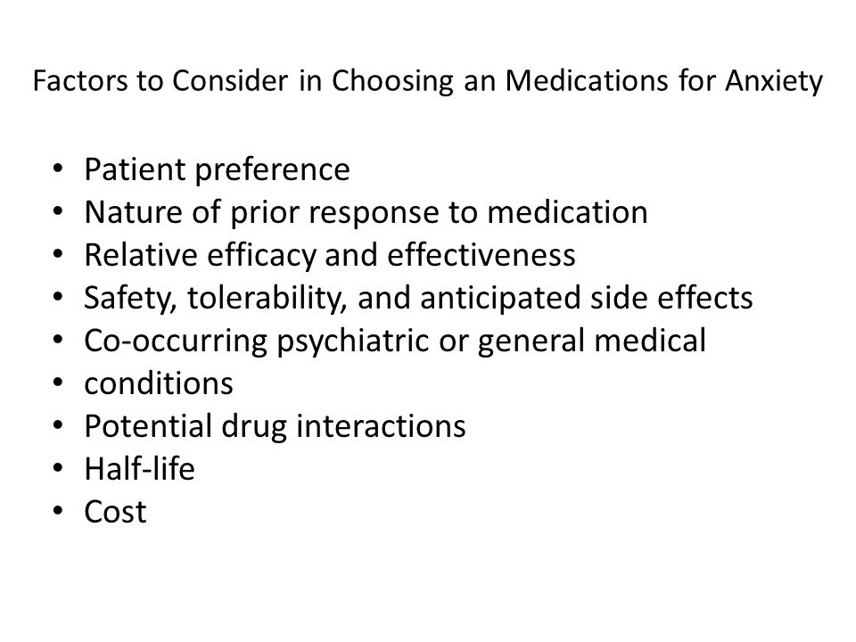Factors to Consider in Choosing an Medications for Anxiety