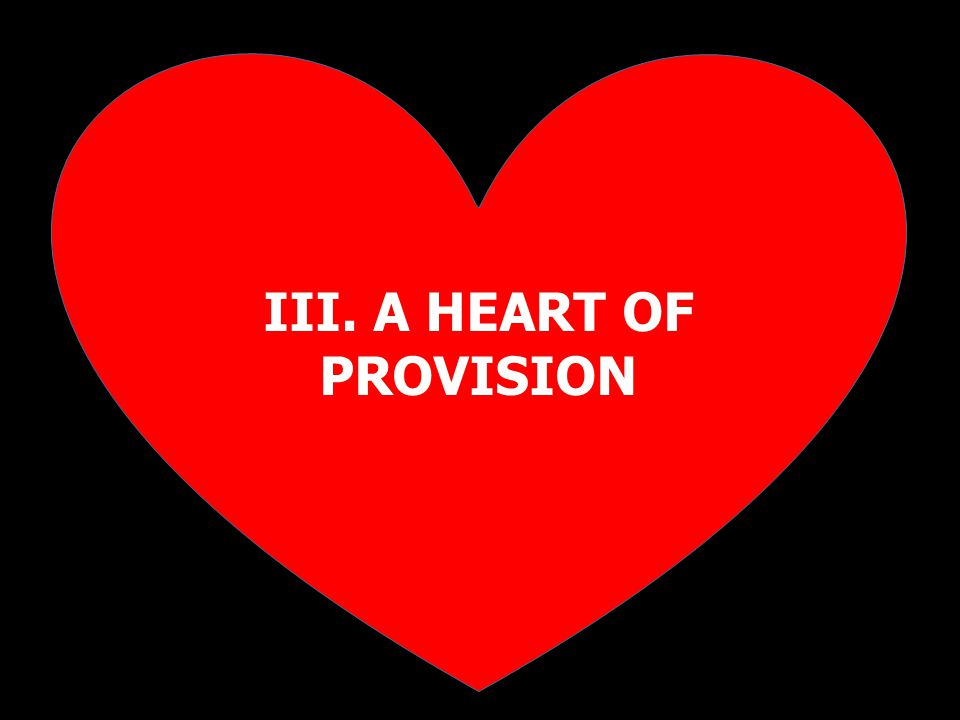 III. A HEART OF PROVISION