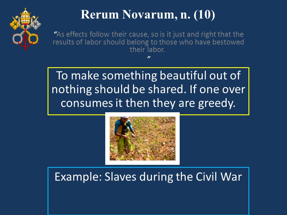 Example: Slaves during the Civil War
