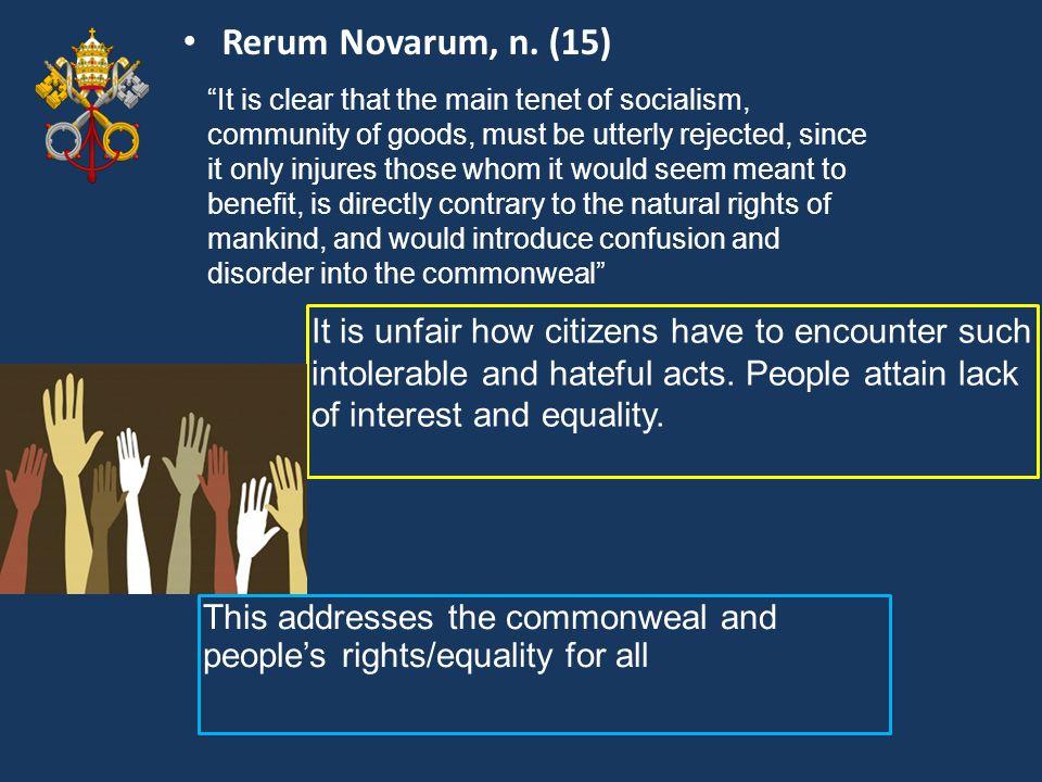 Rerum Novarum, n. (15)