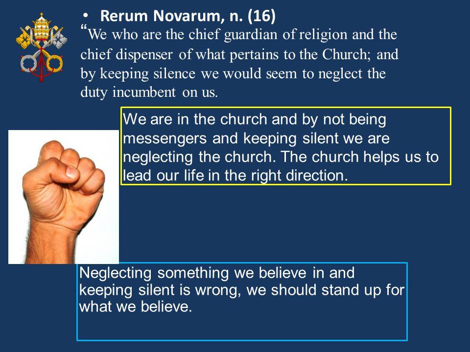 Rerum Novarum, n. (16)