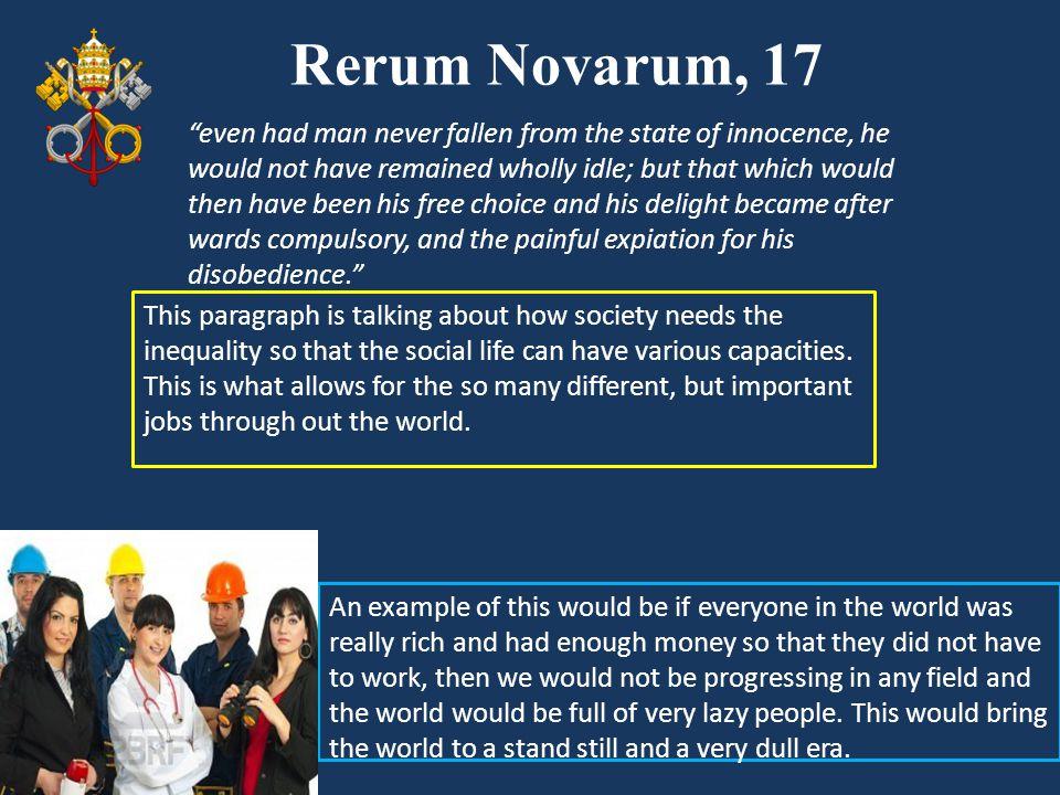 Rerum Novarum, 17