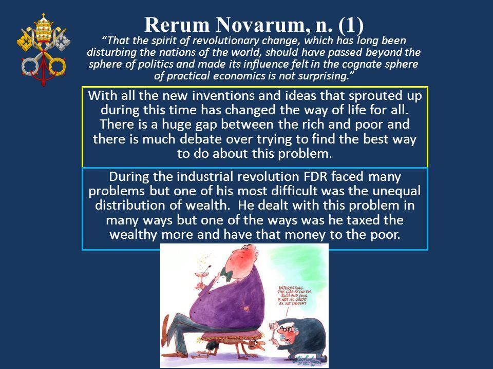 Rerum Novarum, n. (1)