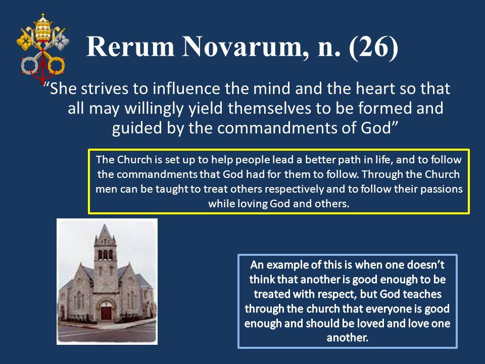 Rerum Novarum, n. (26)