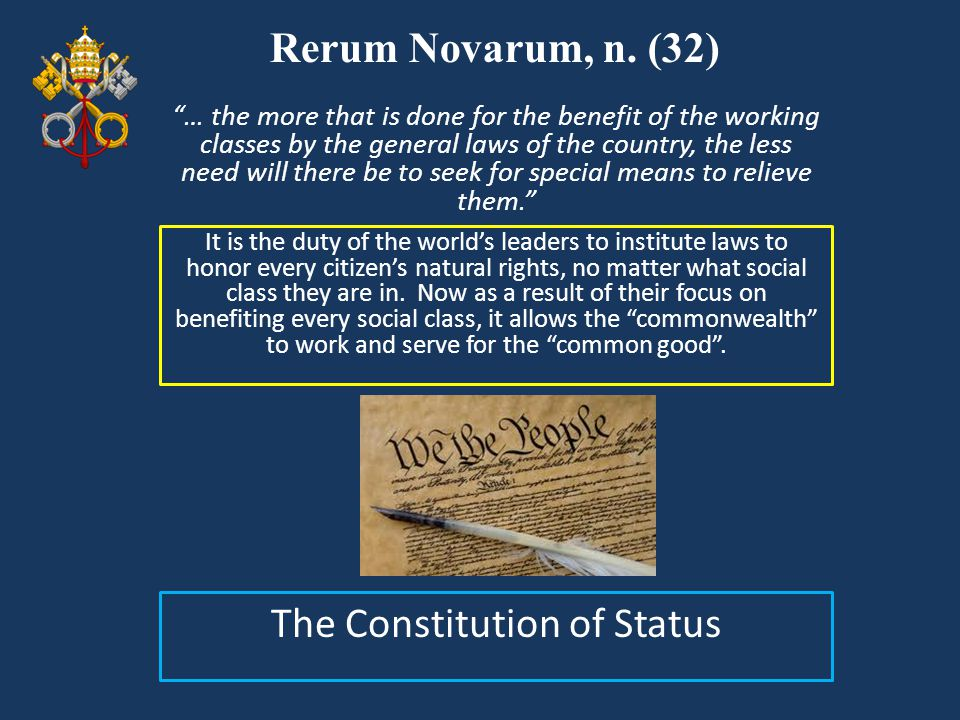 The Constitution of Status