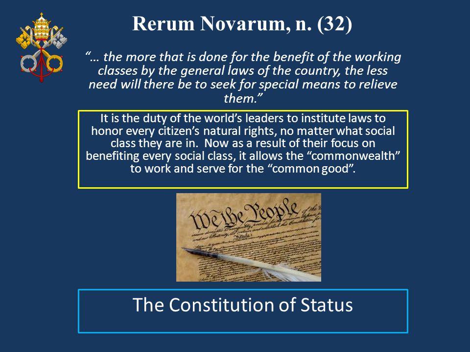 The Constitution of Status