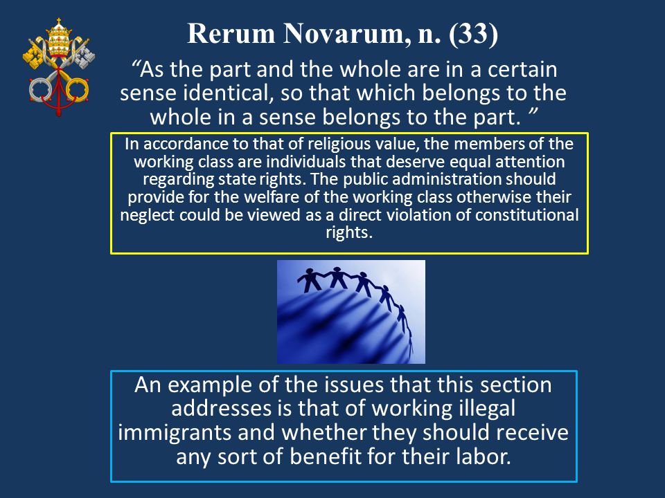 Rerum Novarum, n. (33)