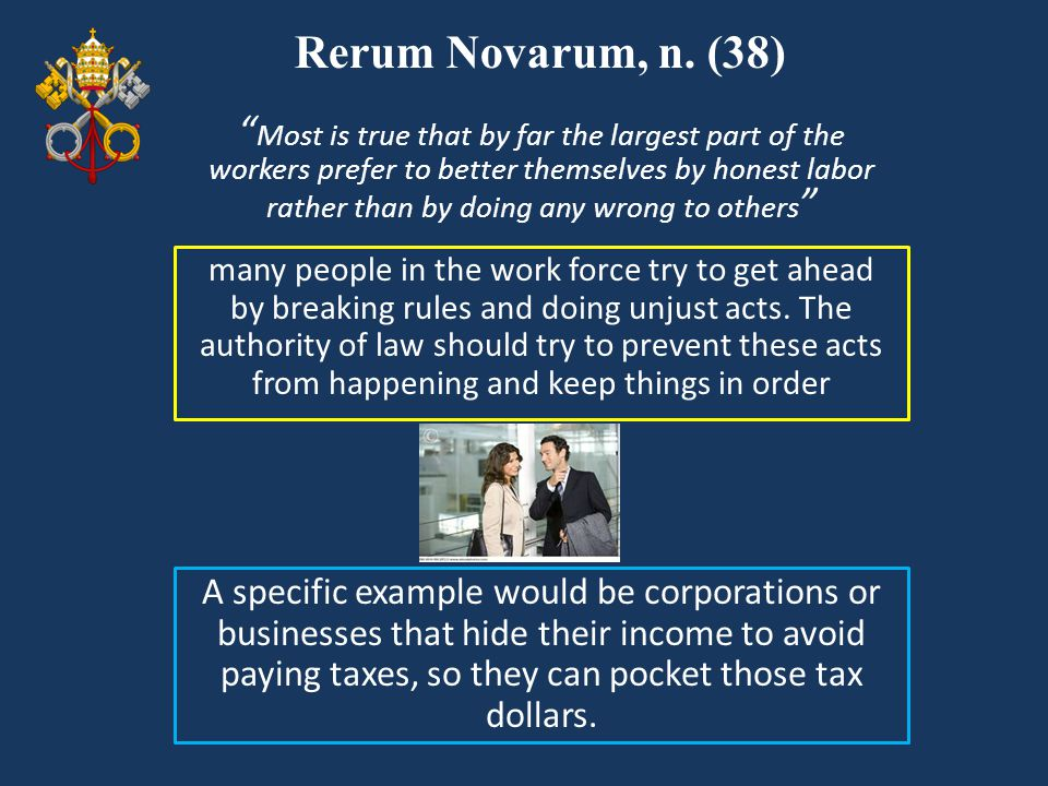 Rerum Novarum, n. (38)