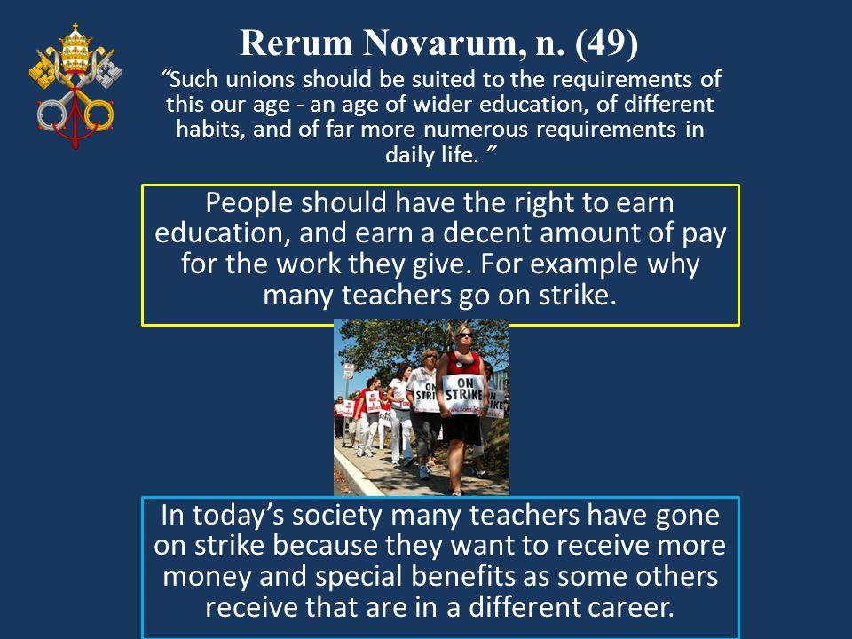 Rerum Novarum, n. (49)