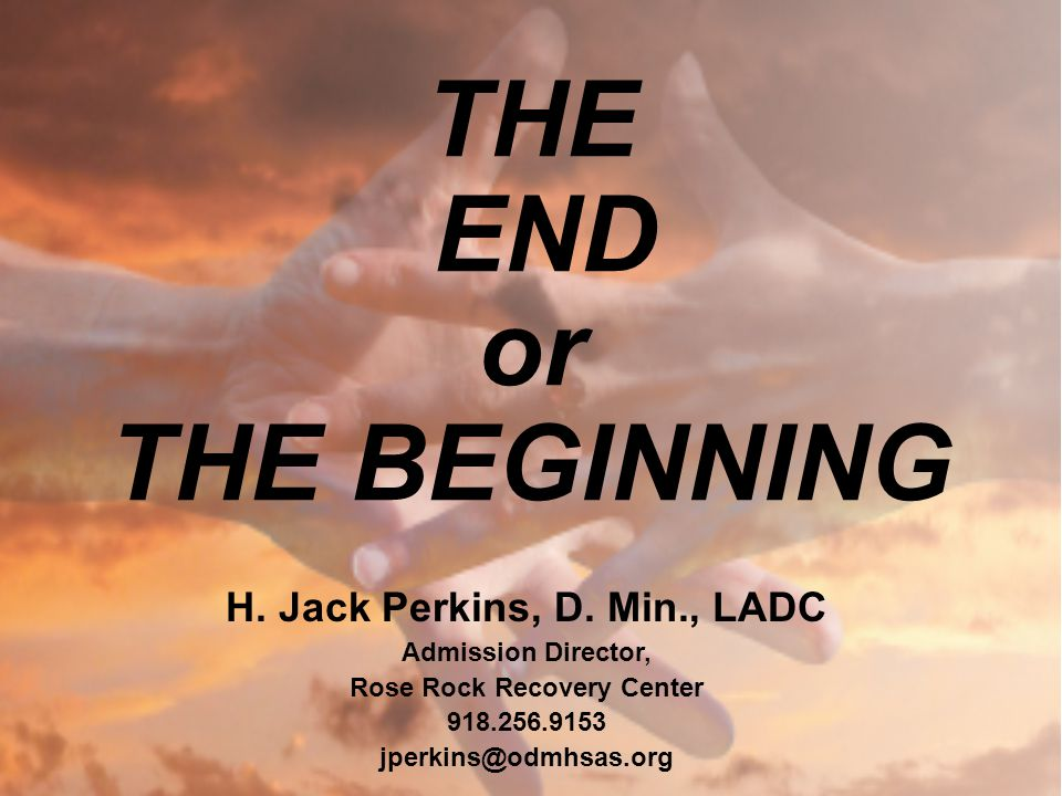THE END or THE BEGINNING