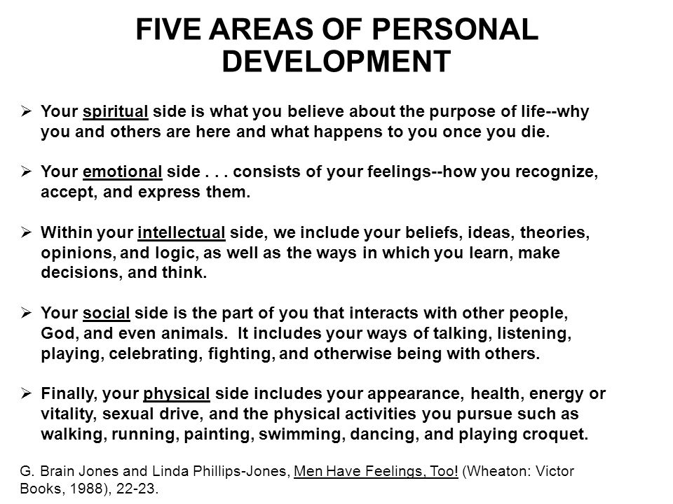 FIVE AREAS OF PERSONAL DEVELOPMENT