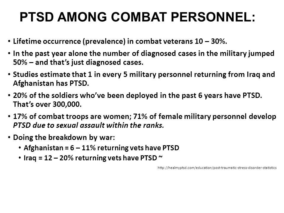 PTSD AMONG COMBAT PERSONNEL: