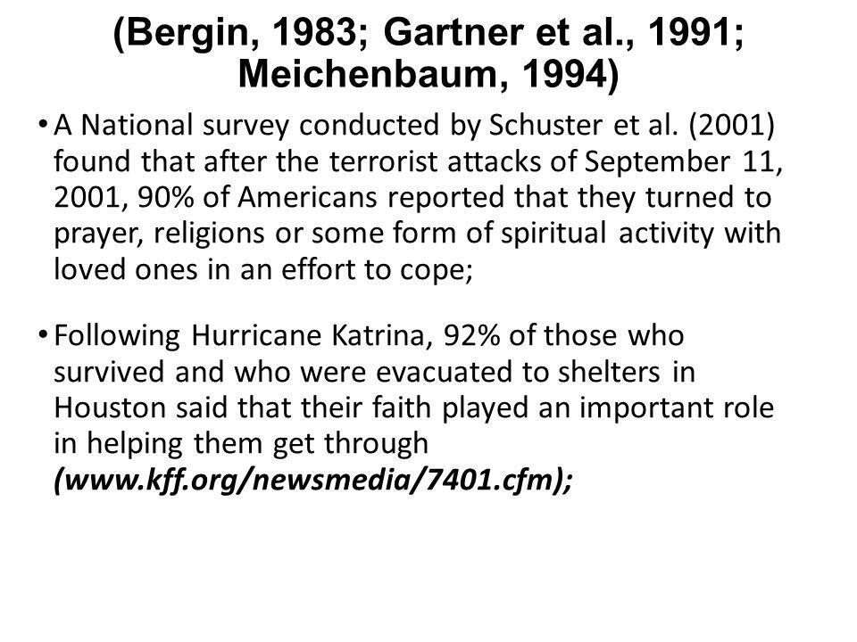 (Bergin, 1983; Gartner et al., 1991; Meichenbaum, 1994)