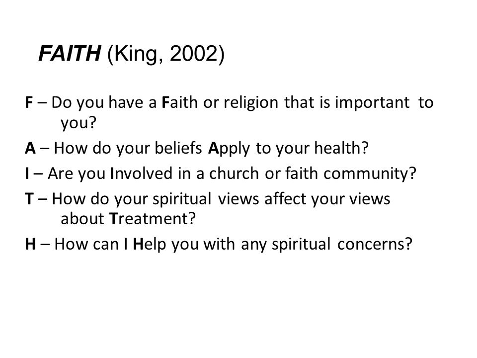 FAITH (King, 2002)