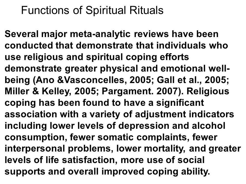 Functions of Spiritual Rituals
