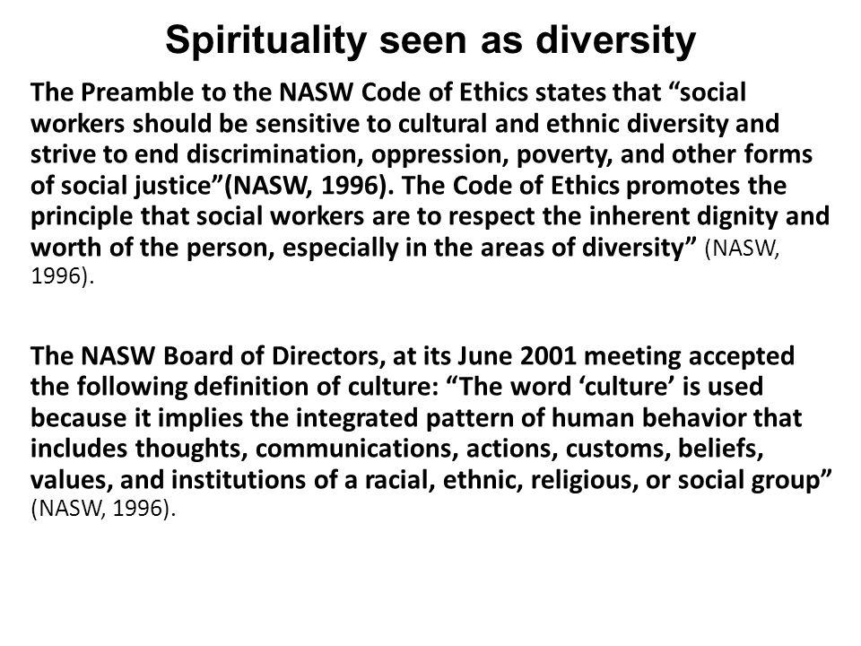 Spirituality seen as diversity