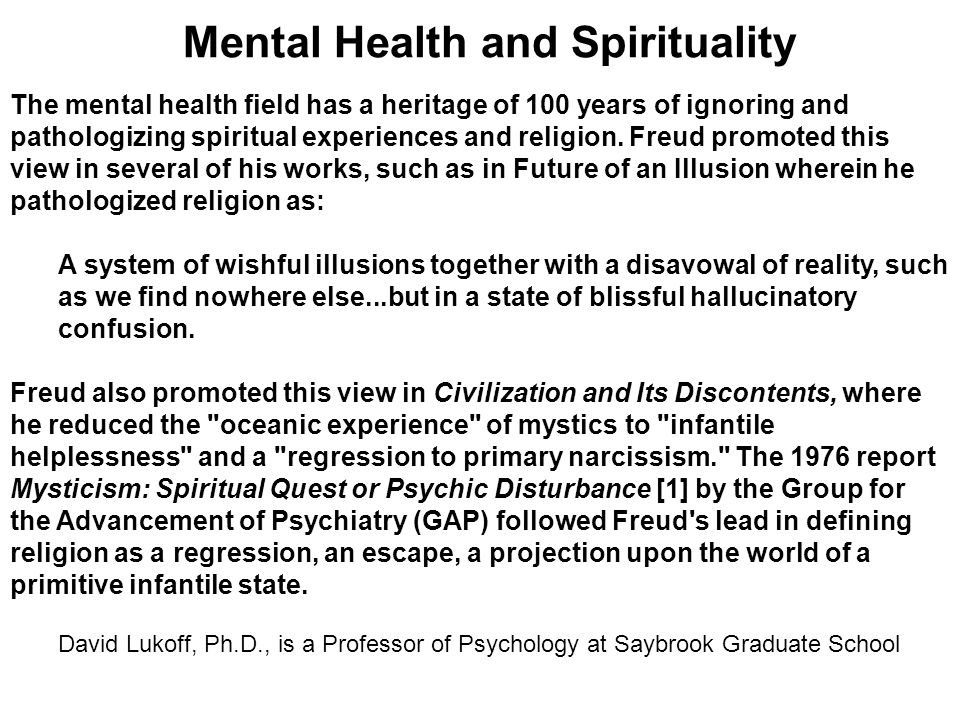 Mental Health and Spirituality