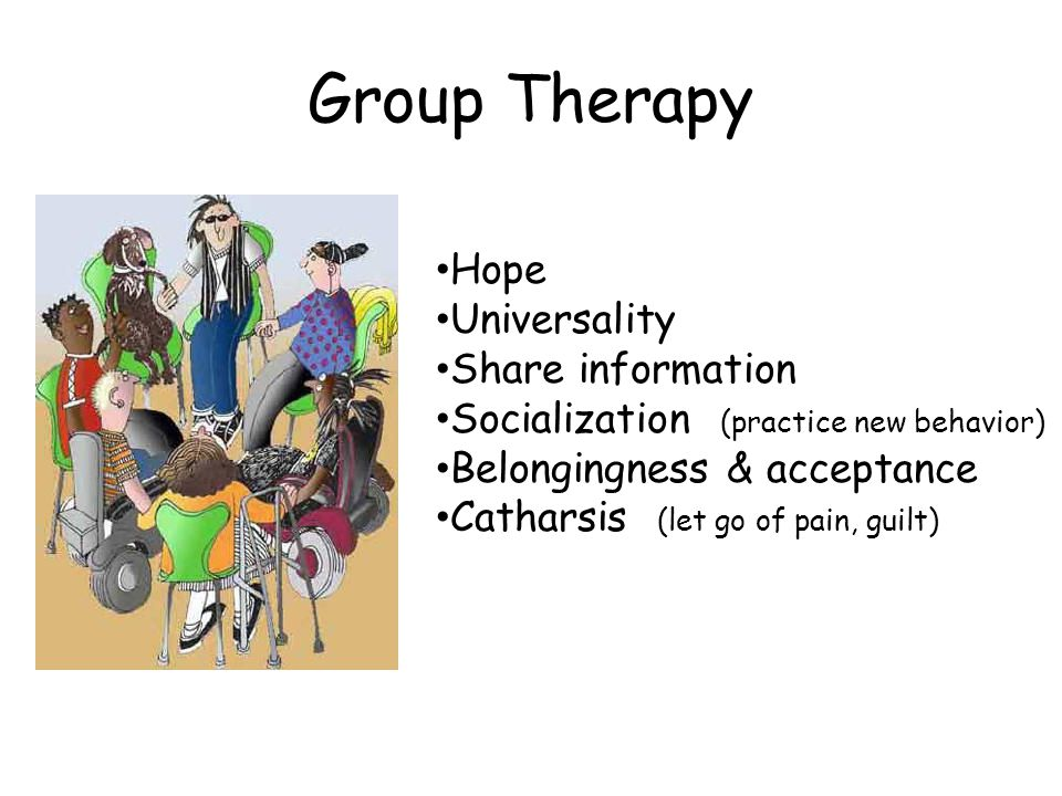 Group Therapy Hope Universality Share information