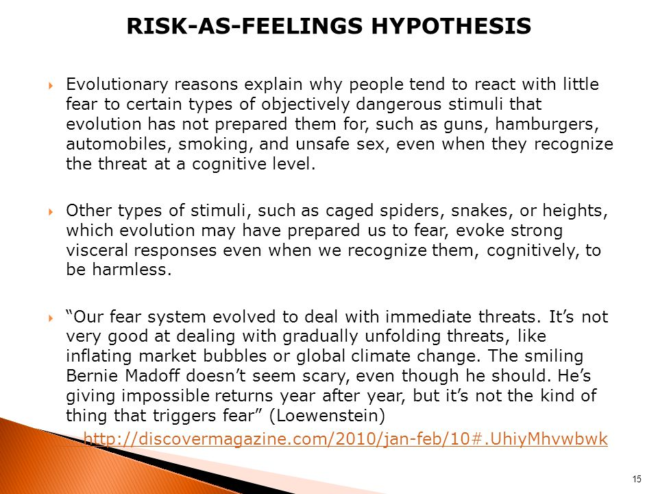 Risk-as-feelings hypothesis