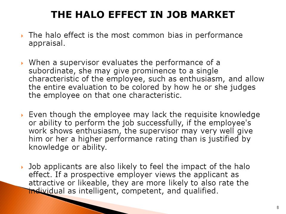 The halo effect In job market