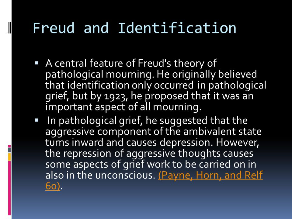 Freud and Identification