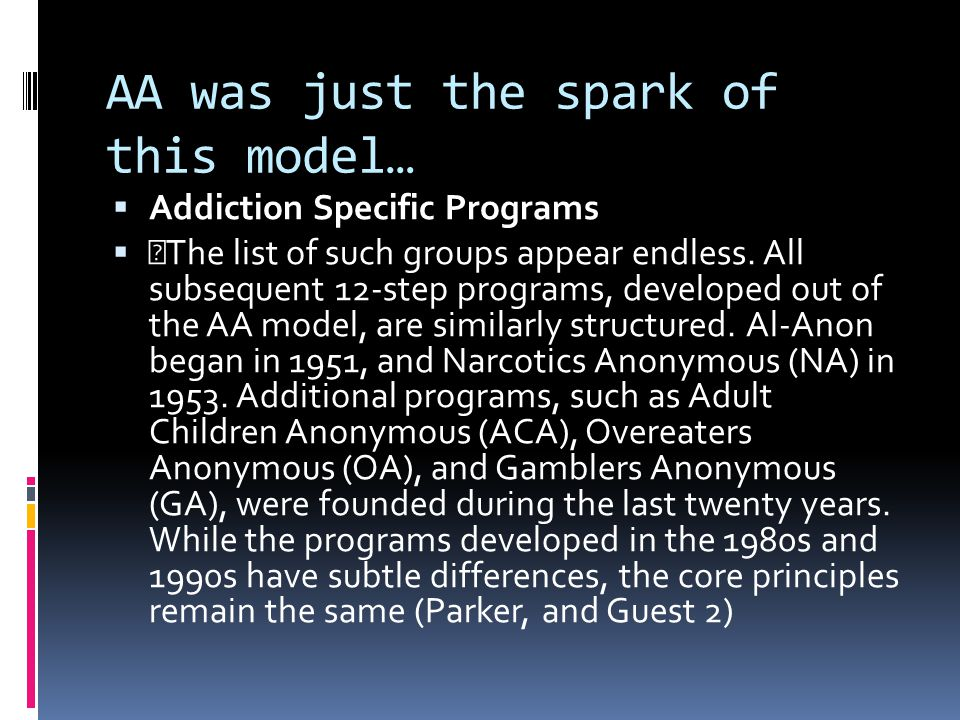 AA was just the spark of this model…