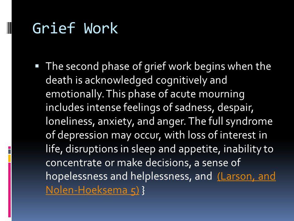 Grief Work