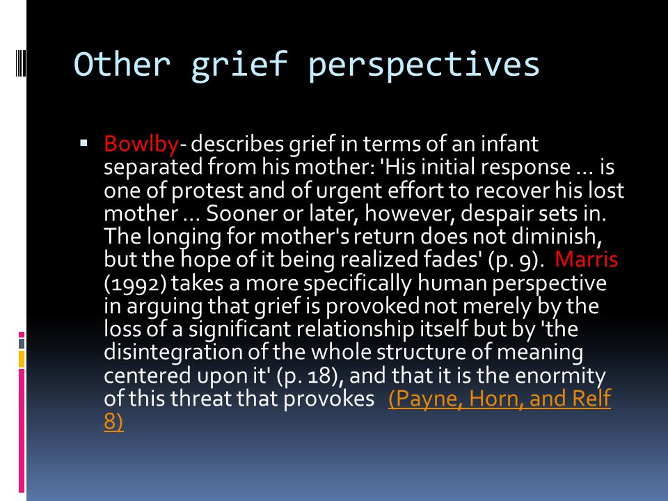 Other grief perspectives
