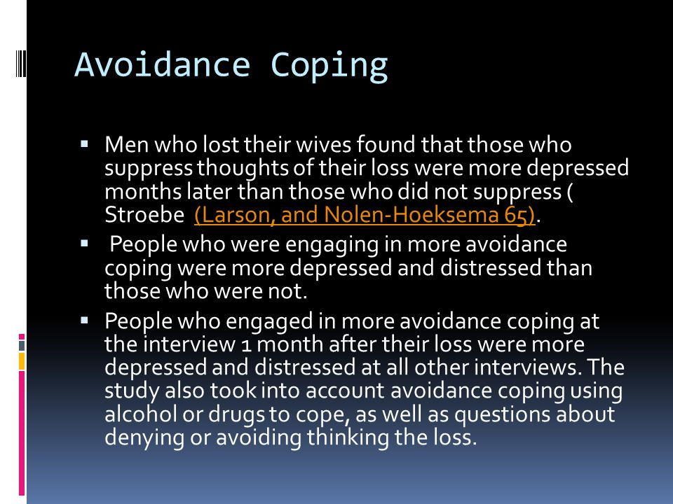 Avoidance Coping