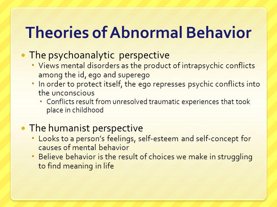 Theories of Abnormal Behavior