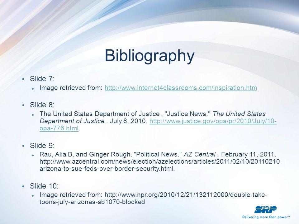 Bibliography Slide 7: Slide 8: Slide 9: Slide 10:
